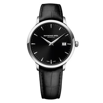 Raymond Weil Toccata men's black leather strap watch - Product number 2469219