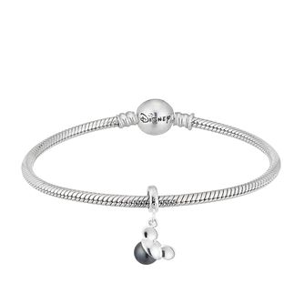Disney Mickey Mouse Black Pearl Charm & Bracelet Set - Product number 2533103