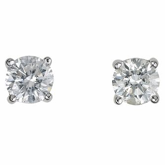 18ct white gold 0.50ct diamond H-I SI2  earrings - Product number 2541742