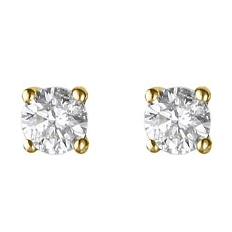 18ct yellow gold 0.25ct diamond G-H SI1 earrings - Product number 2541947
