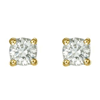 18ct yellow gold 40 point diamond  H-I P1 stud earrings - Product number 2542048
