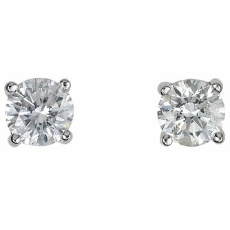 Platinum 40 point diamond  H-I P1 stud earrings - Product number 2542064