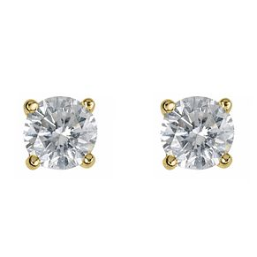 18ct yellow gold 0.50ct diamond H-I S12 earrings - Product number 2542102