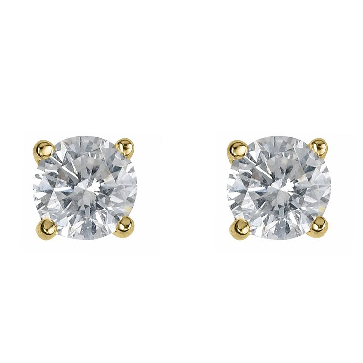 18ct yellow gold 0.50ct diamond F-G VS2 earrings - Product number 2542129