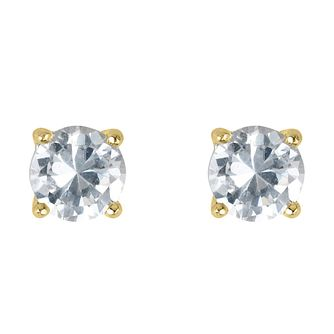 18ct yellow gold 2/3 carat diamond F-G VS2 stud earrings - Product number 2542161