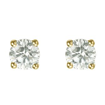 18ct yellow gold 3/4 carat diamond H-I P1 stud earrings - Product number 2542188