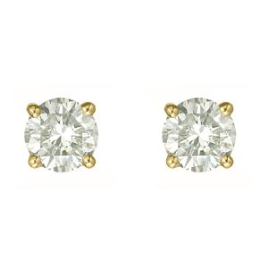 18ct yellow gold one carat diamond G-H SI1 stud earrings - Product number 2542250