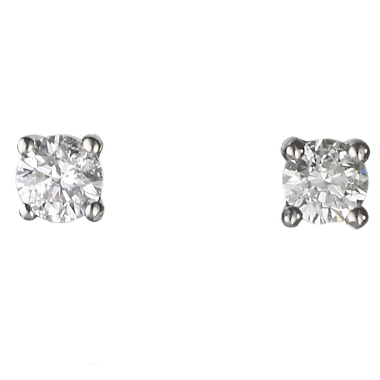 Platinum 0.25ct diamond H-I P1 solitaire earrings - Product number 2542277