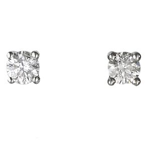 Platinum 0.25ct diamond H-I SI2 solitaire earrings - Product number 2542285