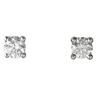 Platinum 0.25ct diamond G-H SI1 solitaire earrings - Product number 2542293