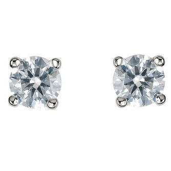 Platinum diamond Third carat H-I SI2 solitaire earrings - Product number 2542323