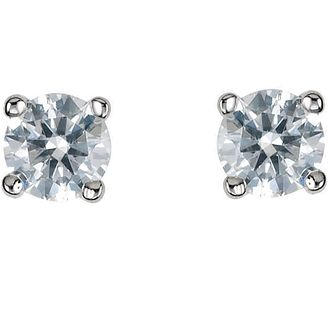 Platinum third carat diamond G-H SI1 solitaire earrings - Product number 2542331