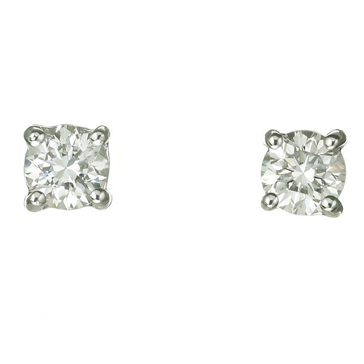 Platinum two thirds of a carat diamond F-G VS2 stud earrings - Product number 2542382