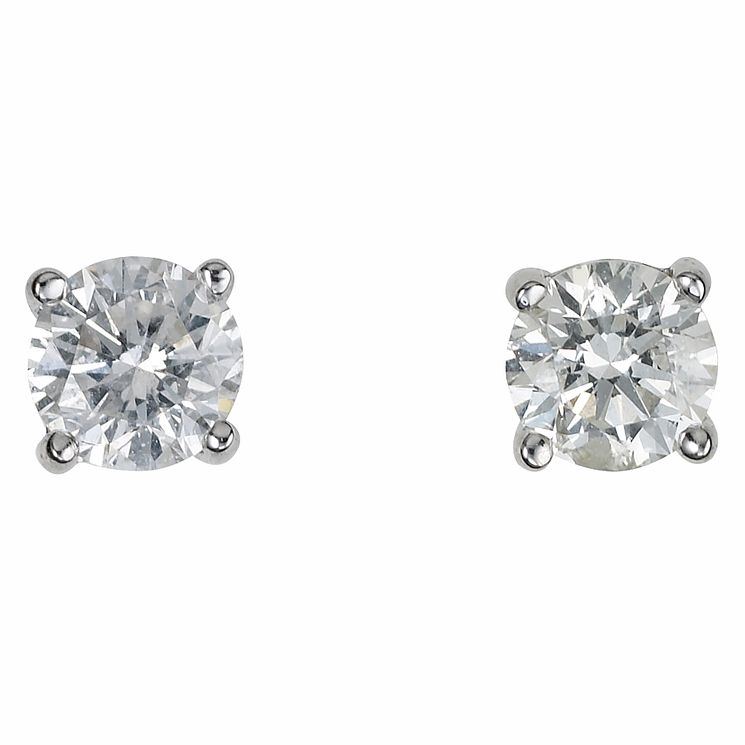 Platinum 0.50ct diamond G-H SI1 earrings - Product number 2542498