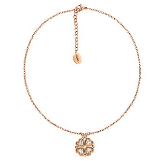 Folli Follie Heart4Heart rose gold-plated crystal necklace - Product number 2542579