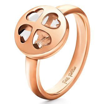 Folli Follie Heart4Heart rose gold-plated ring size N - Product number 2542609