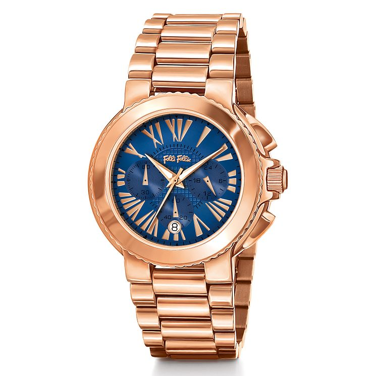 Folli Follie Watchalicious rose gold-plated bracelet watch - Product number 2542811