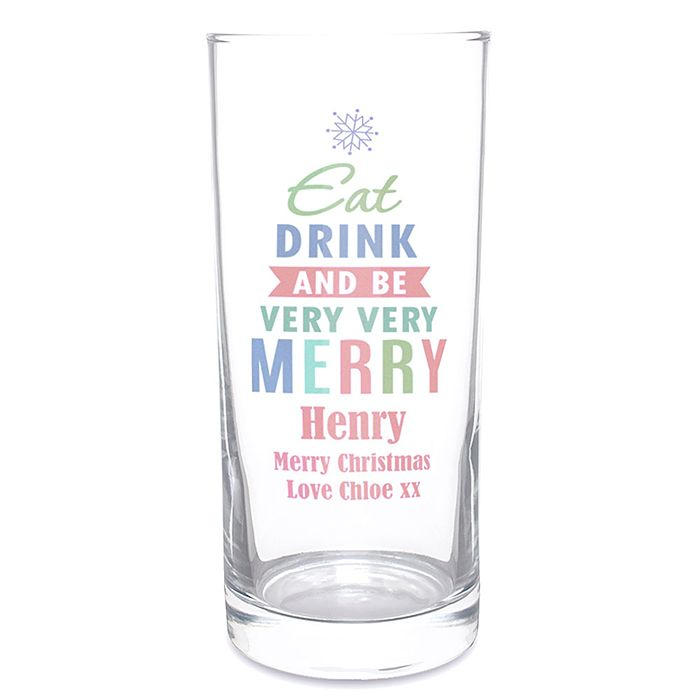 Merry Christmas Bright... Hi Ball Glass - Product number 2547821