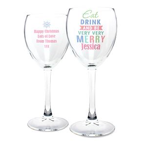 Eat Drink & Be Merry Wine Glass - Product number 2547902