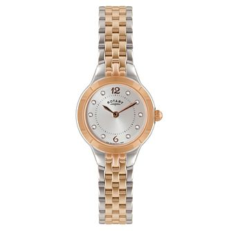 Rotary Ladies' Stone Set Two Tone Bracelet Watch - Product number 2548992