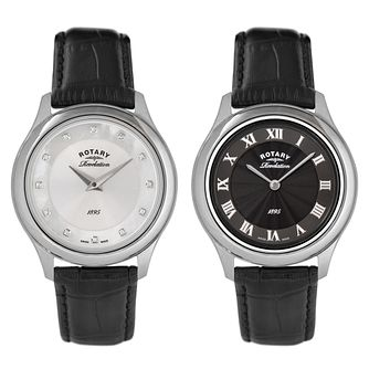 Rotary Ladies' Revelation Dual Dial Leather Strap Watch - Product number 2549239