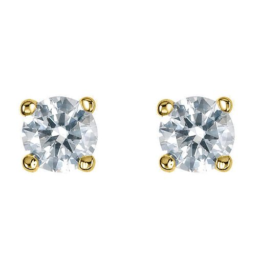 18ct Yellow Gold Third Carat Diamond H-J I2 Earrings - Product number 2549689