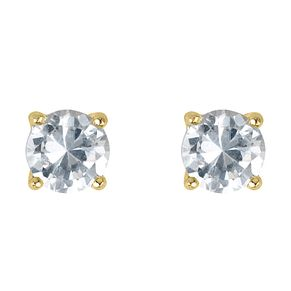 18ct yellow gold 2/3 carat diamond H-J I2 stud earrings - Product number 2549719