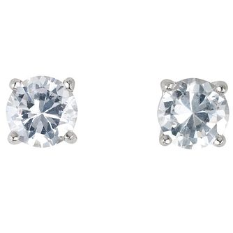 Platinum 2/3 carat diamond H-J I2 stud earrings - Product number 2550024