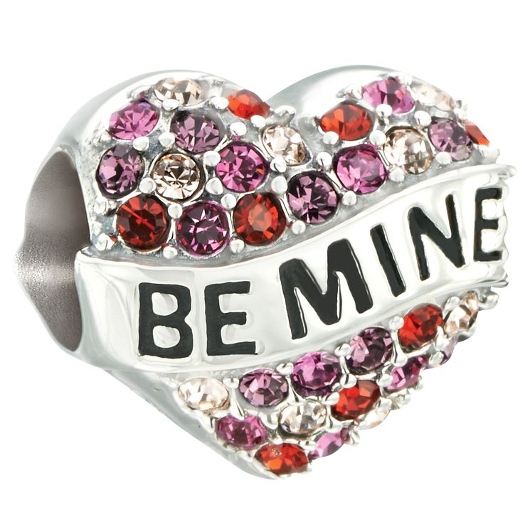 Chamilia Silver & Swarovski Crystal Be Mine Heart Bead - Product number 2551144