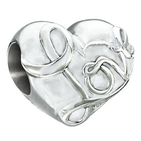 Chamilia Silver & Siam Swarovski Crystal Electric Love Bead - Product number 2551160