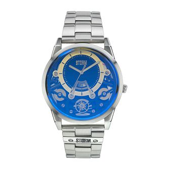 STORM Men's Mechron Blue Skeleton Dial Watch - Product number 2552736