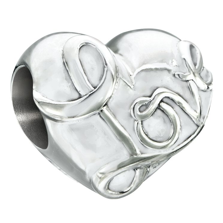 Chamilia love heart bead with crystal Swarovski pave heart - Product number 2583259