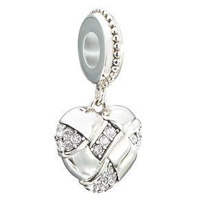 Chamilia pave woven heart bead with crystal Swarovski - Product number 2597306