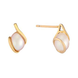 9ct Rose Gold & Freshwater Pearl Wrap Earrings - Product number 2605902