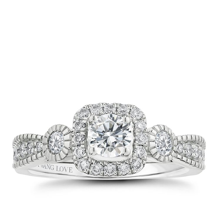 Vera Wang 18ct white gold 0.70CT diamond engagement ring - Product number 2606771