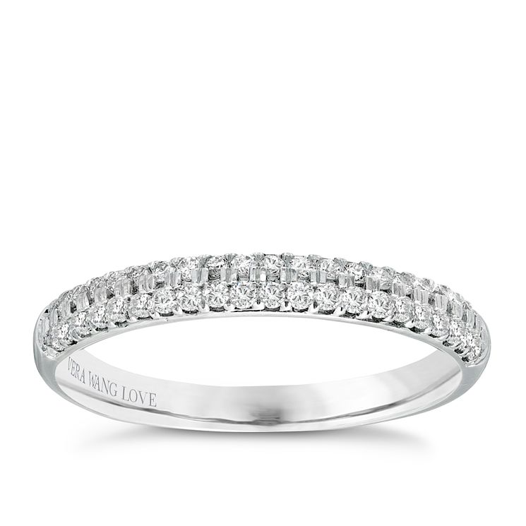 Vera Wang 18ct white gold 0.37CT diamond wedding band - Product number 2607441