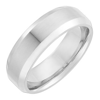 Men's cobalt 7mm edged ring - Product number 2616734