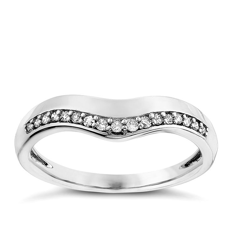 9ct white gold 0.10CT diamond ring - Product number 2625431