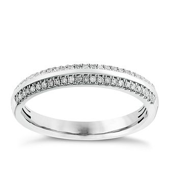 9ct white gold 0.13CT diamond ring - Product number 2628244