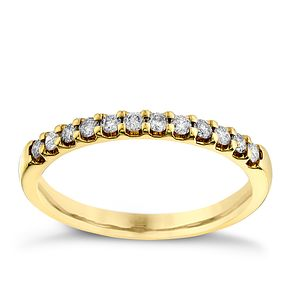 18ct yellow gold 0.25ct diamond wedding ring - Product number 2629151