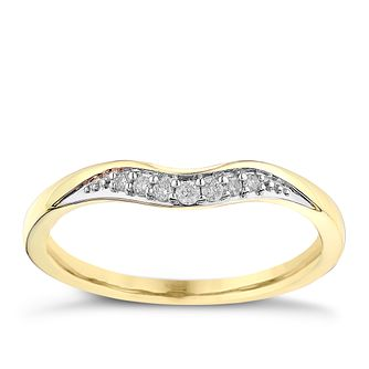 9ct yellow gold shaped diamond ring product number 2630710 - Wedding Rings Gold