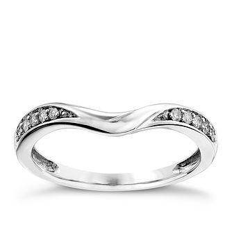 Platinum 0.10CT diamond shaped wedding ring - Product number 2630850