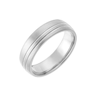 Titanium 6mm Matt & Polished Ring - Product number 2633973