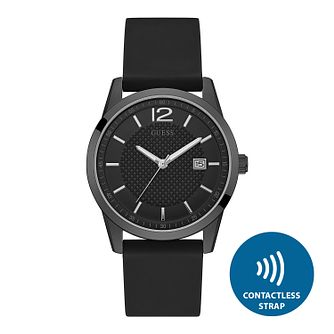 Guess Men's Contactless Black Strap Watch - T&Cs apply - Product number 2634163