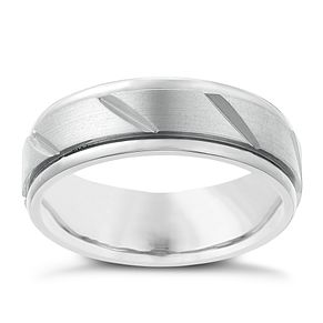 Titanium 7mm Matt Finish Ring - Product number 2634252