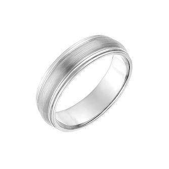 Palladium 500 Polished Ridge Edge 6mm Wedding Ring - Product number 2640465