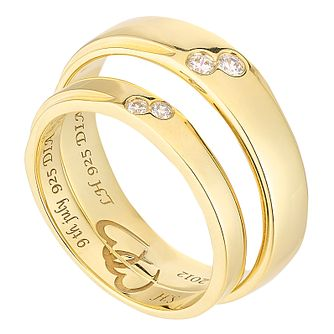Commitment 9ct Yellow Gold Diamond Set Wedding Ring Set - Product number 2643464