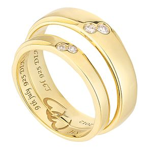 Commitment 18ct Yellow Gold Diamond Set Wedding Ring Set - Product number 2643863