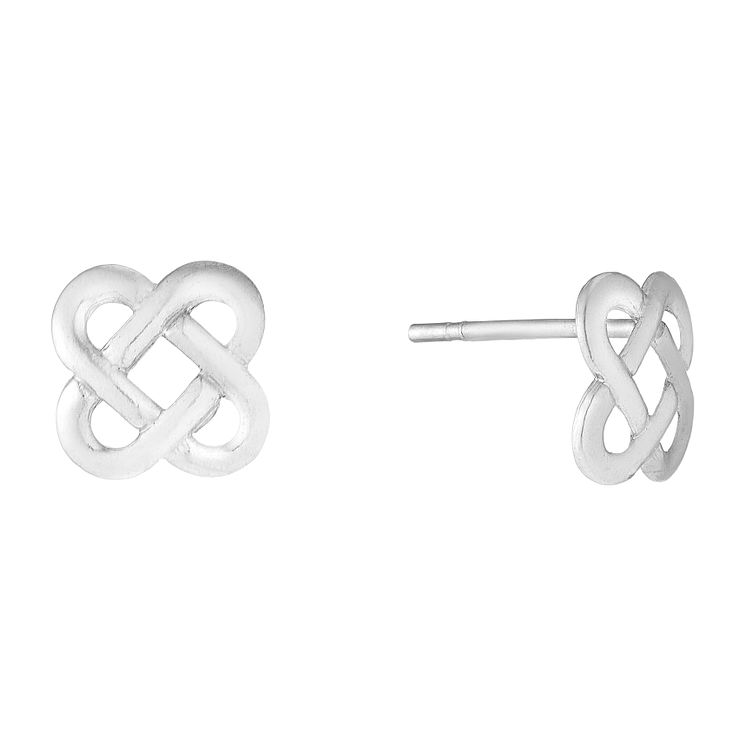 9ct White Gold Celtic Design Stud Earrings - Product number 2646625