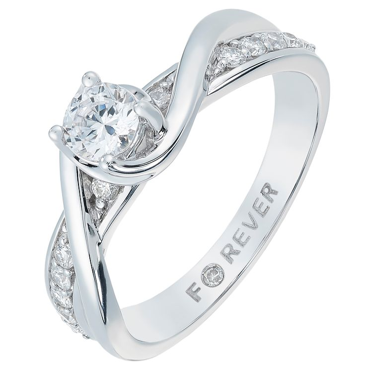 18ct White Gold 1/2 Carat Forever Diamond Ring - Product number 2775476